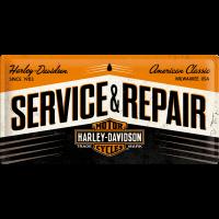 -.Blechschild - Harley Davidson Service & Repair