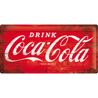 -.Blechschild - Coca Cola Logo