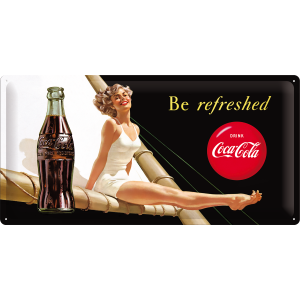 -.Blechschild - Coca Cola Be refreshed
