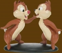 Chip + Dale chatting