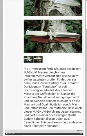 Magnum Jagdmesser