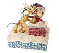 Santa Mickey and Pluto