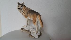 Wolf auf Schnee