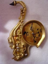 Saxophon Wanduhr
