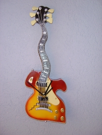 Gitarren Wanduhr