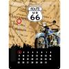 Blechschild - Map of Route 66