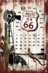 ..Blechschild Kalender - Route 66 Desert