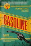 ..Blechschild - Gasoline