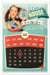 ..Blechschild Kalender - a Clean House is a Sign of..