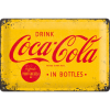 ..Blechschild - Coca Cola Logo Yellow