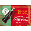 ..Blechschild - Coca Cola Delicious Refreshing Green
