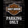 .Blechschild - Harley Davidson Parking Only