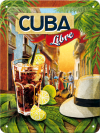 .Blechschild - Cocktail Time- Cuba Libre
