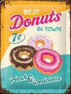 .Blechschild - Donuts