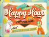 .Blechschild - Happy Hour