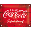 .Blechschild - Coca Cola Logo Red Refresh Yourself