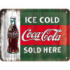 .Blechschild - Coca Cola - Ice Cold Sold Here