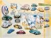 Blechschild - VW die fünfziger Jahre