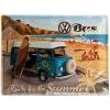 Blechschild - VW Bus Surf Coast