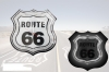 Route 66 Wanduhr