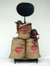 Kaffeebohnen Figuren mit extra Säcken