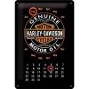 Blechschild Kalender - Harley Davidson Genuine Motor Oil