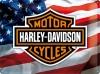 Blechschild - Harley Davidson USA Logo