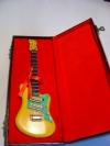 Miniatur Gitarre gelb