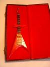 Miniatur Gitarre rot