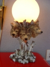 Wolfslampe mit Glaskugel